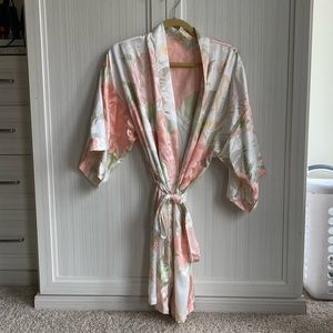 Floral Bridal/Bridesmaid Robe